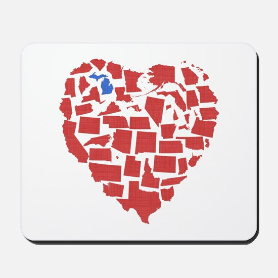 Michigan Heart Mousepad