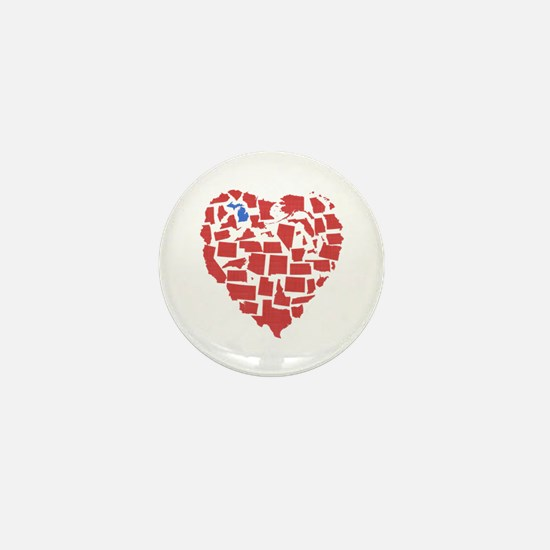 Michigan Heart Mini Button