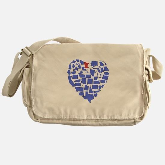 Minnesota Heart Messenger Bag