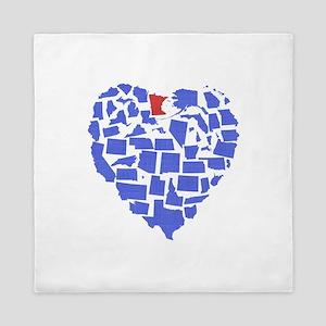 Minnesota Heart Queen Duvet
