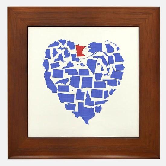 Minnesota Heart Framed Tile