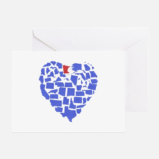 Minnesota Heart Greeting Card