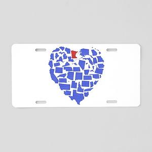 Minnesota Heart Aluminum License Plate