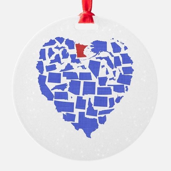 Minnesota Heart Ornament