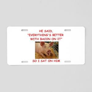 pig humor Aluminum License Plate