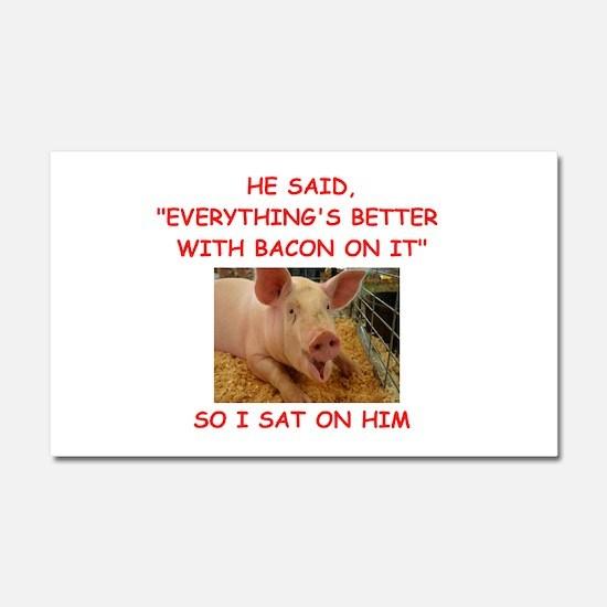 pig humor Car Magnet 20 x 12