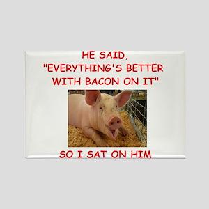pig humor Magnets