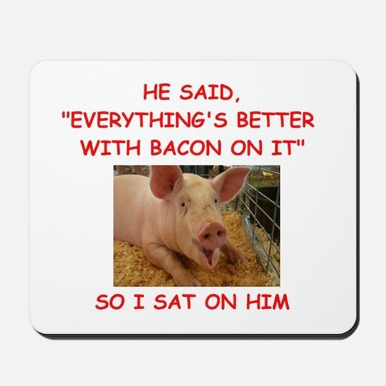 pig humor Mousepad