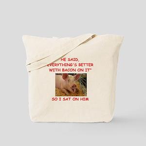 pig humor Tote Bag