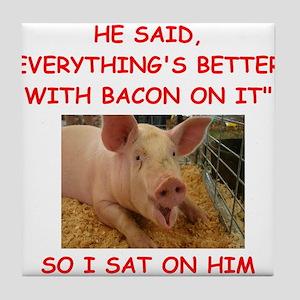 pig humor Tile Coaster