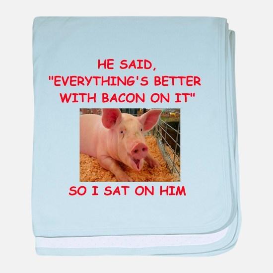 pig humor baby blanket