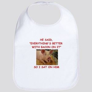 pig humor Bib