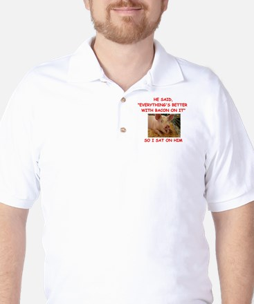 pig humor Golf Shirt