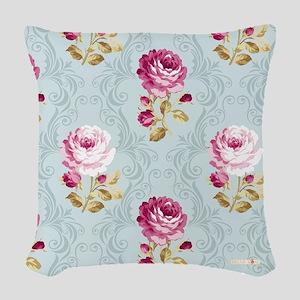 Floribunda Woven Throw Pillow