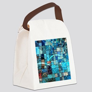 Mosaic in mosaic turquoise Canvas Lunch Bag