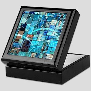 Mosaic in mosaic turquoise Keepsake Box