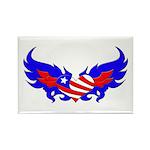Heart Flag ver2 Rectangle Magnet (10 pack)