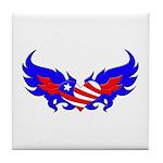 Heart Flag ver2 Tile Coaster