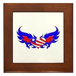 Heart Flag ver2 Framed Tile