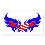 Heart Flag ver2 Rectangle Sticker