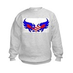 Heart Flag ver2 Kids Sweatshirt