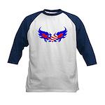 Heart Flag ver2 Kids Baseball Jersey
