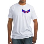Heart Flag ver2 Fitted T-Shirt