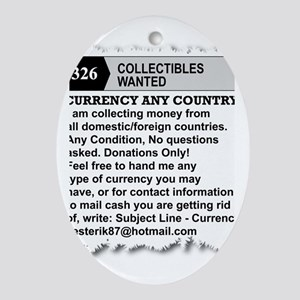Currency Ad Oval Ornament