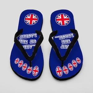 Union Jack Off The Leash (blue) Flip Flops