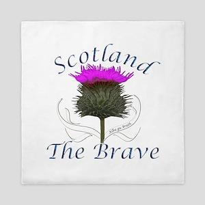 Scotland The Brave Thistle Queen Duvet