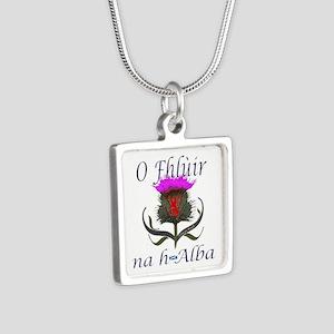 Flower Of Scotland Gaelic Thistle Design Necklaces