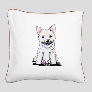 Norwegian Buhund Square Canvas Pillow