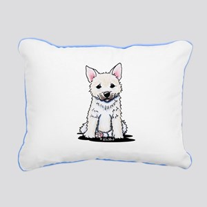 Norwegian Buhund Rectangular Canvas Pillow