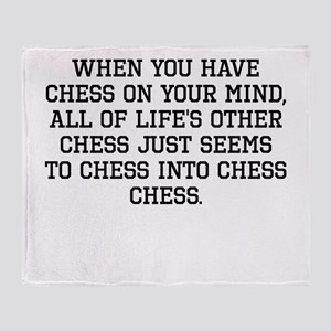 When You Have Chess On Your Mind Throw Blanket