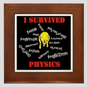 I Survived Physics Framed Tile