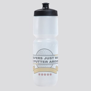 Golfers Putter Around Sports Bottle