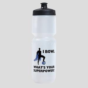 Bowling Superhero Sports Bottle