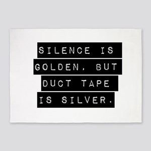 Silence Is Golden 5'x7'Area Rug