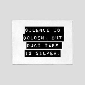 Silence Is Golden 5'x7'Area Rug