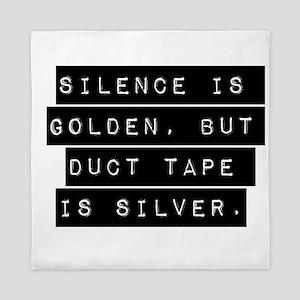 Silence Is Golden Queen Duvet