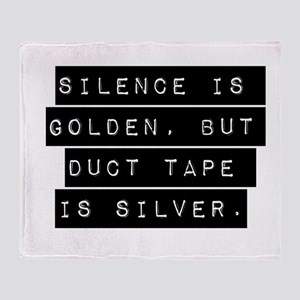 Silence Is Golden Throw Blanket