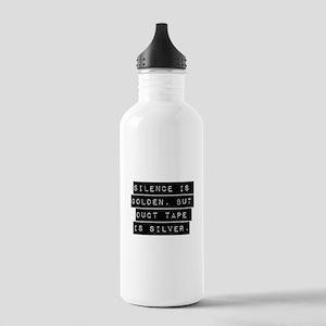 Silence Is Golden Water Bottle