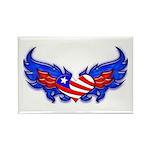 Heart Flag ver3 Rectangle Magnet (100 pack)