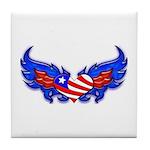 Heart Flag ver3 Tile Coaster