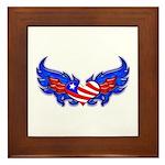 Heart Flag ver3 Framed Tile