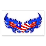 Heart Flag ver3 Rectangle Sticker