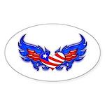 Heart Flag ver3 Oval Sticker