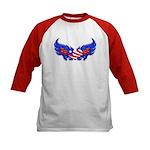 Heart Flag ver3 Kids Baseball Jersey