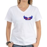 Heart Flag ver3 Women's V-Neck T-Shirt