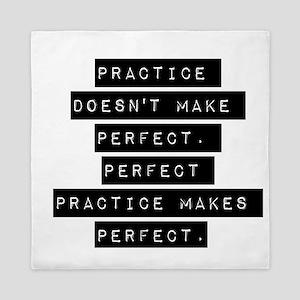 Practice Doesnt Make Perfect Queen Duvet